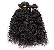 """4 шт / много 100 г / шт 8 """"-26"""" виргинские индийские волнистые волосы натуральные черные курчавые фигурные типы наращивания волос"""