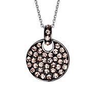 Women's Fashion Pink Cyrstal Steel Pendant for Necklace