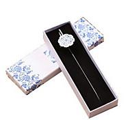 rétro bleu et blanc porcelaine signets métalliques (pas de boîte)