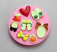 pantofola stampi specchio di figura del cioccolato del silicone, stampi per dolci, stampi di sapone, attrezzi della decorazione bakeware