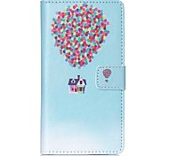 EFORCASE® Balloon House Painted PU Phone Case for Sony XPERIA M4/Z5/Z5mini