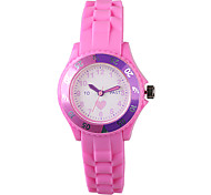 Women's Fashion Watch Casual Watch Quartz Silicone Band Charm Purple
