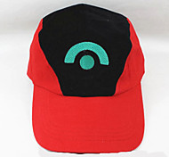 Hat/Cap Inspired by Pocket Monster Ash Ketchum Anime Cosplay Accessories Cap / Figure White / Red Cotton Male / Female