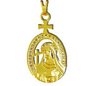 chapado en oro del busto de cobre colgante en forma de maría virgen