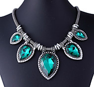 Necklace Statement Necklaces Jewelry Daily / Casual Fashion Alloy Black / Blue / Green 1pc Gift