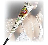 Хэллоуин белый блеск хной конусов искусство тела Mehandi чернила Jagua комплект временную татуировку