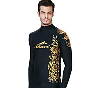 SBART Men's Diving Suits Diving Suit Compression Wetsuits 1.5 to 1.9 mm Gold M / L / XL / XXL / XXXL / XXXXL Diving