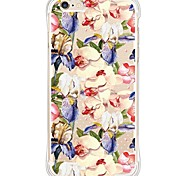 zurück Stoßfest / Wasserdichte / Transparent Blume TPU WeichBack Shockproof/Waterproof/Transparent TPU Soft Flowers Case Cover For Apple