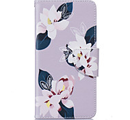 Gray Lily Pattern Card Phone Holster for Samsung Galaxy G530/J3/J5/J510