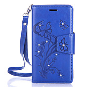 Butterfly Flower Diamond Flip Leather Cases Cover For Lenovo A2020/A2010 Strap Wallet Phone Bags