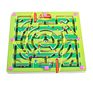 Wooden Magnetic Pen Beads Maze(Soccer)