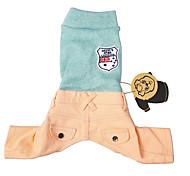 Кошка Собака Свитера Одежда для собак Праздник Английский Синий