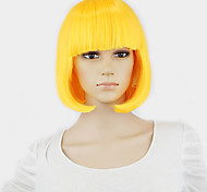 New Arrival Women's Short straight hair wig saffron yellow Color  bob wig Fashion wig Free Shipping