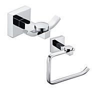 Set di accessori per il bagno / Porta rotolo di carta igienica / Appendi-accappatoio / Cromo / A muro /16*14*8 /Ottone /Moderno /16 14 0.6