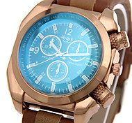 Hombre Reloj Deportivo / Reloj Militar / Reloj de Moda / Reloj de Pulsera Cuarzo / Piel Banda Casual / Cool Negro / Marrón Marca