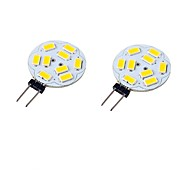 2PCS G4 9LED SMD5730 6W 600LM DC/AC8-300V Warm White / Cool White LED Spotlight