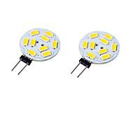 6W G4 Luces LED de Doble Pin T 9 SMD 5730 600 lm Blanco Cálido / Blanco Fresco Decorativa AC 12 / AC 24 / DC 24 / 09.30 / DC 12 V 2 piezas