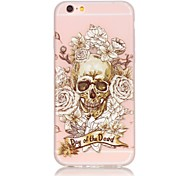 Skull Pattern TPU Material Glow in the Dark Soft Phone Case for iPhone 5/5S/SE/6/6S/6 Plus/6S Plus