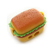 Simulation Hamburger Double Pencil Sharpener | Pencil Sharpener With Two Rubber