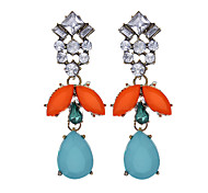 Vintage Fashion Ethnic Geometric Earrings Rhinestone Dangle Earring Women Jewelry