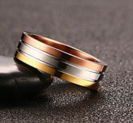Fashion Simple Personality Three-color Ring Stainless Steel Ring
