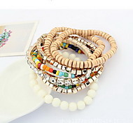 Strand Bracelets 1pc,Yellow / Blue / Orange Bracelet Vintage Circle 514 Alloy Jewellery