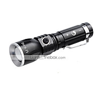 U`King® LED Flashlights/Torch Clips and Mounts LED 1000LM Lumens 3 Mode Cree XM-L T6 14500 AADimmable Adjustable Focus Rechargeable