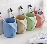 The Wheat Straw Wash Gargle Cup, Plastic Toothbrush Cup(Random Style)
