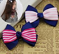 Women's Flower Girl's Fabric Bow Hair Clip