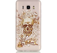 Skull TPU Material Glow in the Dark Soft Phone Case for Samsung Galaxy J110/J310/J510/J710/G360/G530/I9060