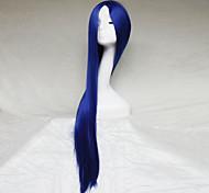 cosplay peruca cor azul esculpir um metro de comprimento peruca de cabelo reto