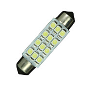 10X Blue 41mm 42mm Festoon 12-SMD Car Map Door Trunk Dome Interior Light Lamps
