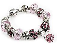 Pink Strand Bracelet with Pendant Charm Bracelet(S:18,M:19,L:20cm) Christmas Gifts