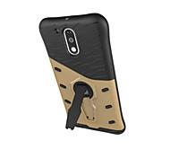 Для Кейс для Motorola Защита от удара / со стендом Кейс для Задняя крышка Кейс для Армированный Твердый PC Motorola Moto G4 Play / Мото Z