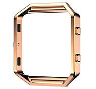 Черный / Роуз / Золотистый / Серебристый Нержавеющая сталь / Металл Replace Metal Frame Металлический браслет Для Fitbit Смотреть 23мм