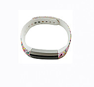 Smart Strap Bracelet Colorful Printing Silicone Bracelet For Fitbit Alta(01)