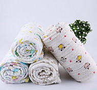 Pure Cotton Gauze Towels Increased Thickening Super Soft Absorbent Towel (Random Color)