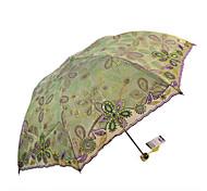 Grün Taschenschirme Sonnenschirm Textil- Reise / Lady