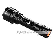 U`King ZQ-ZJTc8  3 Mode 1200LM Dimmable XM-L2 T6 Black LED Flashlights/Torch