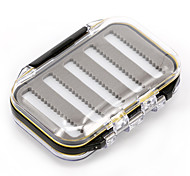 Anmuka 105*65*35mm Plastic Waterproof fly fishing Double Side Clear Slit Foam fly Fishing Box FLY BOX Tackle Case Box