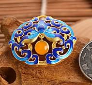 jóias diy estilo de impressão azul encanto liga