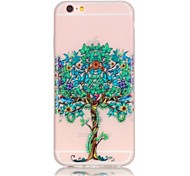 Trees Pattern TPU Material Glow in the Dark Soft Phone Case for iPhone 5/5S/SE/6/6S/6 Plus/6S Plus