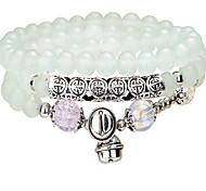 Women Alloy Silver Bell Strand Bracelets