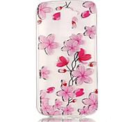 Rose Petals 3D Relief Feeling Super Soft Pack Transparent TPU Phone Case for LG K7/K8/K10