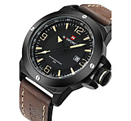 NAVIFORCE® Luxury Brand Men Military Fashion Analog Date Display Leather Strap Quartz Watch Fashion Wrist Watch Cool Watch