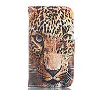 The leopard Leather Wallet for Samsung Galaxy Core Prime Grand Prime