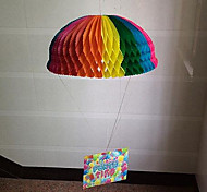 The New Children'S Baby Birthday Supplies Decorated Rainbow Parachute Garland Paper Flower Paper Ball