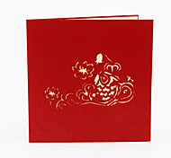 Monkey 3D Perspective Mid-Fish Greeting Cards Paper-Cut New Year Greeting Card Greeting Card