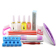14Sets Manicure Tools Based Nail Nail Care Phototherapy Armor Suits