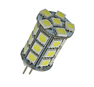 10x branco puro g4 pino 27 LED SMD 5050 360 graus 12v AC / DC luzes de cristal 450lm